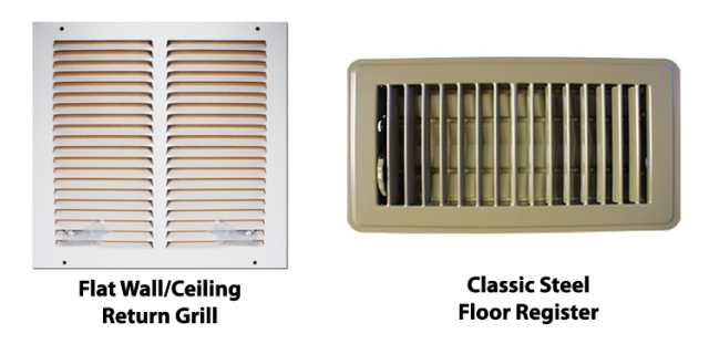 Installerstore Return Air Grille and Classic Floor Register