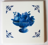 Photo of Waterproof Tile Transfer Blue Fruit Bowl