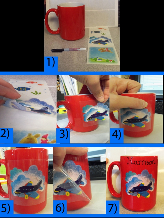 Directions for  Kids Personalized Mug with tile Transfer