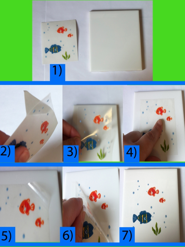 Directions for Tile Transfer for Kids Bathroom