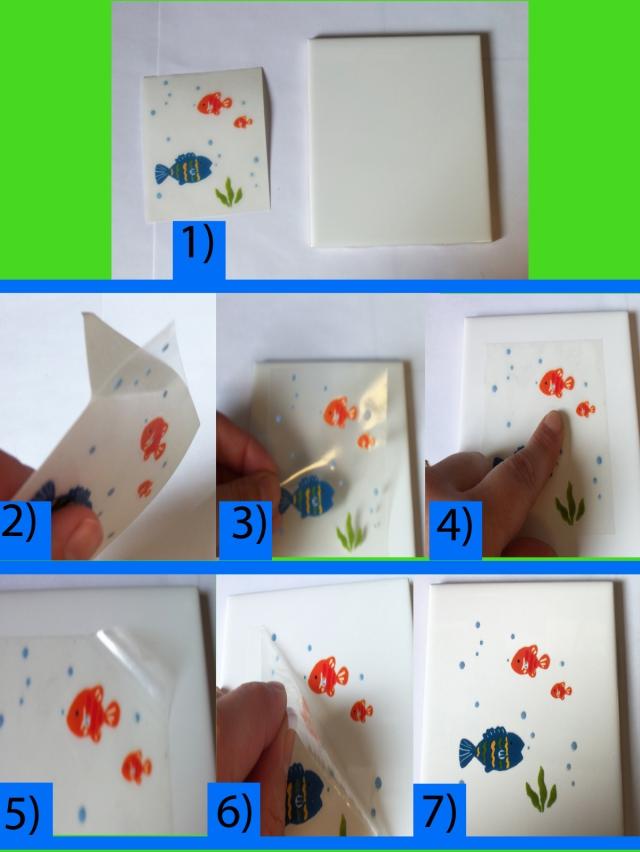 Directions for Tile Transfer for Kids Bathroom