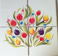 Image Waterproof Tile Transfer Flower