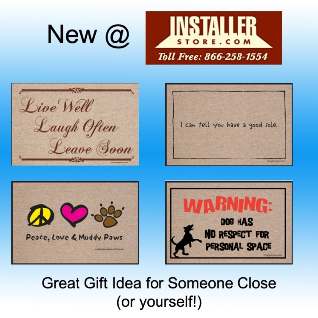 Humorous Welcome Mats from Installerstore.com