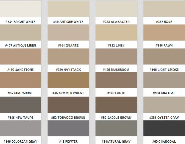 Installerstore - Fusion Pro Grout Color Chart