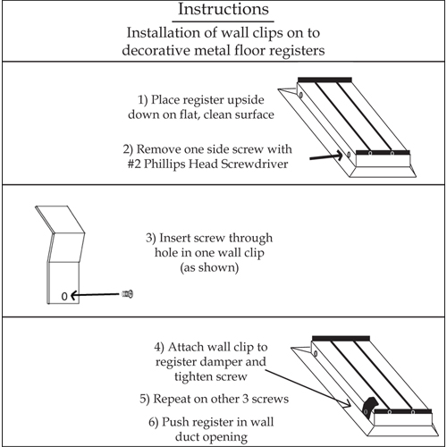 Floor Register conversion to Wall Register Instructions