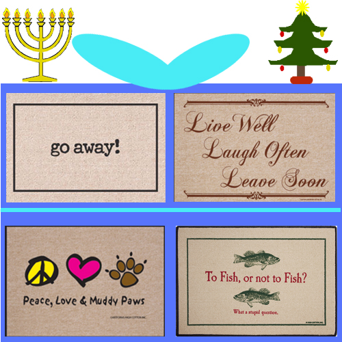 Funny Welcome Mat Christmas Present - Hanukkah/Chanukah