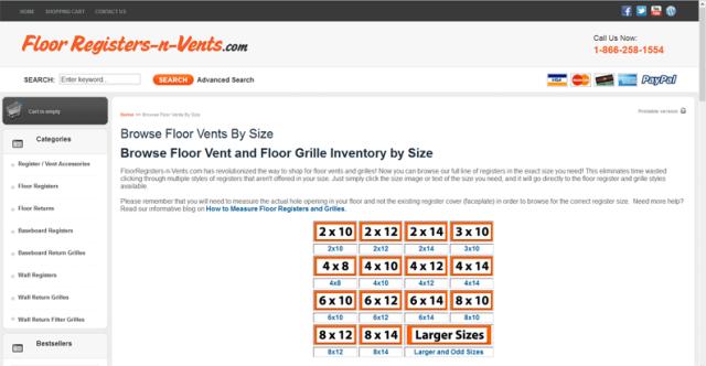 FloorRegisters-n-Vents.com - Floor Register Sizes