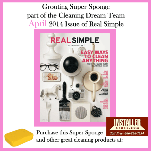 Extra Large Cleaning Sponge - Real Simple April 2014