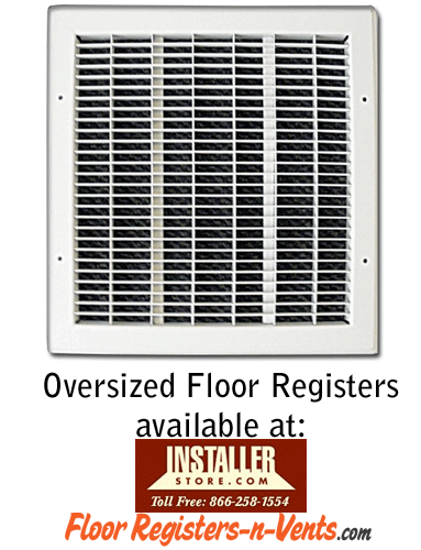 Oversized Floor Register - Large Floor Vent