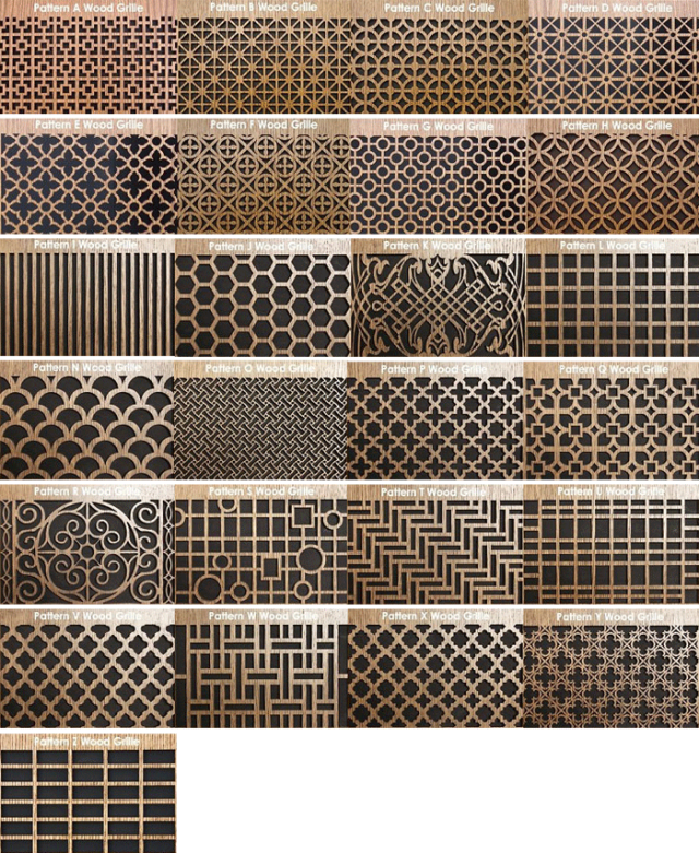 Available Decorative Patterns for Round Wall Vents