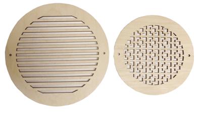 New Decorative Round Vents Circular Wood Grilles