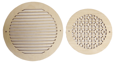 Round Wood Decorative Grilles